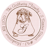 Name Doodles - Round Address Labels/Stickers (Culinary Pooch)